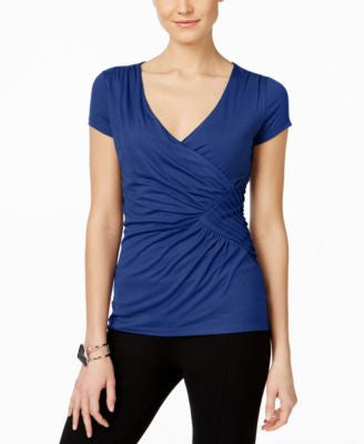 INC International Concepts Petite Ruched Top, Only at Vogily