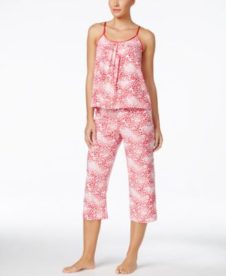 Alfani Satin-Trim Tank & Capri Pajama Pants Sleep Separates, Only at Vogily