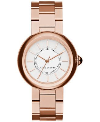 Marc Jacobs Women's Courtney Rose Gold-Tone Stainless Steel Bracelet Watch 34mm MJ3466