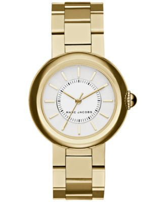 Marc Jacobs Women's Courtney Gold-Tone Stainless Steel Bracelet Watch 34mm MJ3465