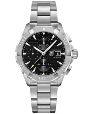 TAG Heuer Men's Swiss Chronograph Aquaracer Calibre 16 Stainless Steel Bracelet Watch 43mm CAY2110.B