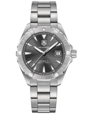 TAG Heuer Men's Swiss Aquaracer Calibre 5 Stainless Steel Bracelet Watch 41mm WAY2113.BA0928