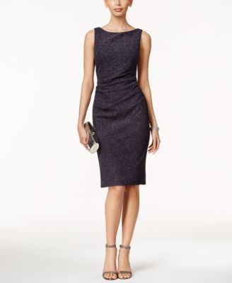 Jessica Howard Sleeveless Ruched Sheath Dress