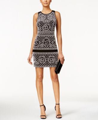 Xscape Sleeveless Beaded Bodycon Dress