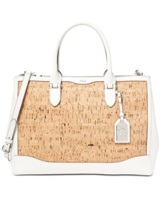 Lauren Ralph Lauren Newbury Cork Double Zip Satchel