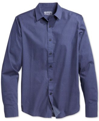 American Rag Men's Geo-Print Long-Sleeve Shirt, Only at Vogily