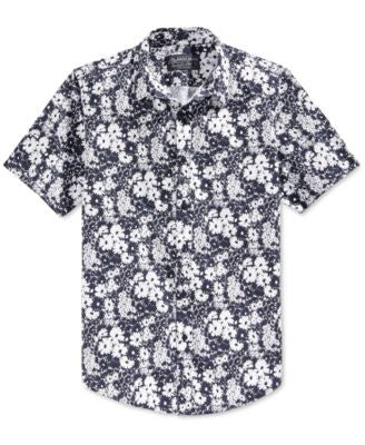 American Rag Men's Daisy-Print Short-Sleeve Shirt, Only at Vogily