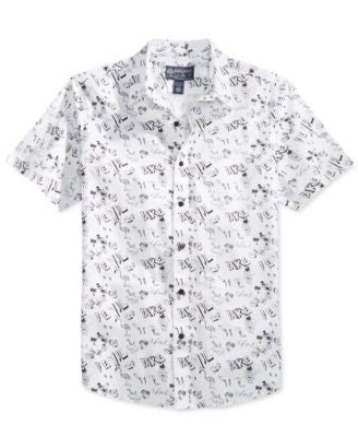 American Rag Men's Graphic-Print Short-Sleeve Shirt, Only at Vogily