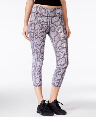 Betsey Johnson Python-Print Capri Leggings