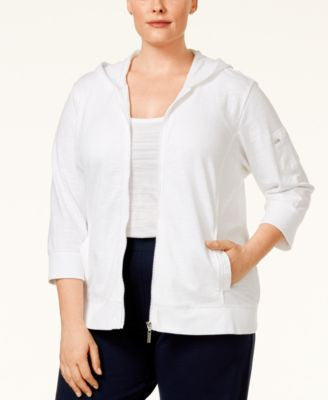 Style & Co. Plus Size Zip Hoodie, Only at Vogily