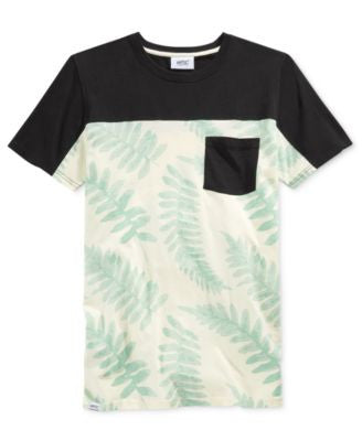 WeSC Men's Colorblocked Leaf-Print T-Shirt