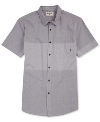 Men's Tribong Chambray Colorblocked Short-Sleeve Shirt