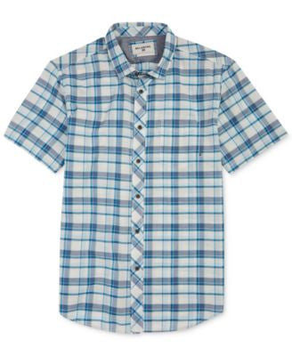 Billabong Men's Glenwood Plaid Short-Sleeve Shirt