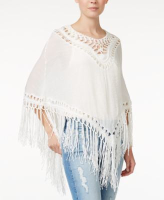 Collection XIIX Crochet Insert Poncho