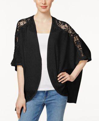 Collection XIIX Lace Shoulder Kimono