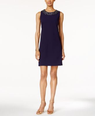 Ronni Nicole Sleeveless Embellished Sheath Dress
