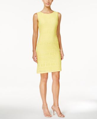 Ronni Nicole Sleeveless Lace Sheath Dress