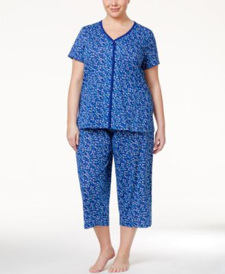 Charter Club Plus Size Cotton Pajama Set, Only at Vogily