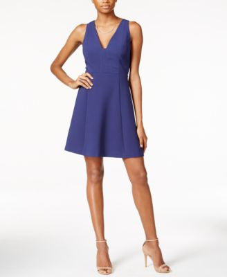 BCBGeneration Sleeveless V-Neck Fit & Flare Dress