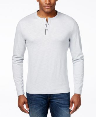 Alfani Men's Slub Long-Sleeve Henley, Only at Vogily
