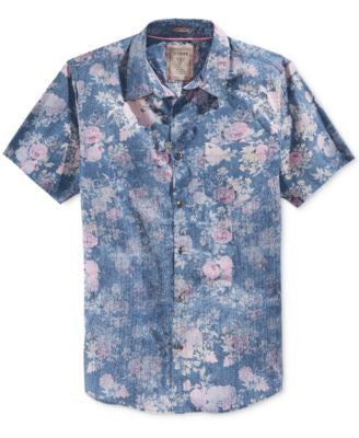 GUESS Men's Washed Floral Shirt