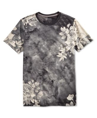GUESS Men's Floral Crew Neck T-Shirt