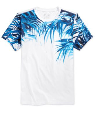 GUESS Men's Panel Palms Crew Neck T-Shirt