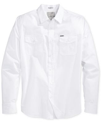 GUESS Men's Laguna Pigment-Spray Shirt