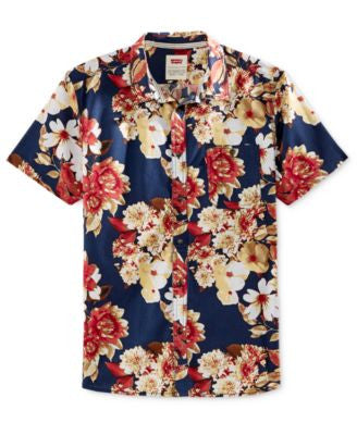 Levi's® Men's Floral-Print Short-Sleeve Shirt