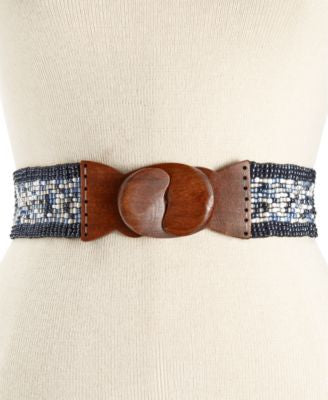 INC International Concepts Multi Beaded Stretch Belt, Only at Vogily