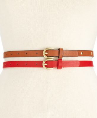 Style & Co. Studded Americana 2 for 1 Skinny Belts, Only at Vogily