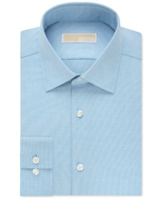MICHAEL Michael Kors Slim-Fit Non-Iron Textured Solid Dress Shirt