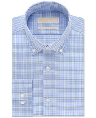 MICHAEL Michael Kors Men's Classic-Fit Non-Iron Mineral Check Dress Shirt