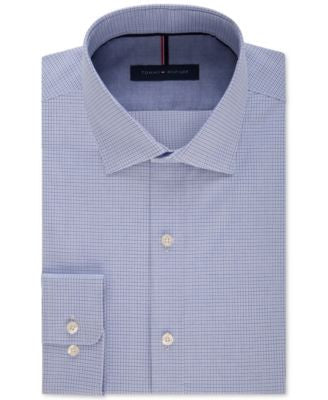 Tommy Hilfiger Men's Slim-Fit Non-Iron Check Dress Shirt