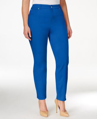 Charter Club Plus Size Bristol Tummy-Control Ankle Jeans, Only at Vogily
