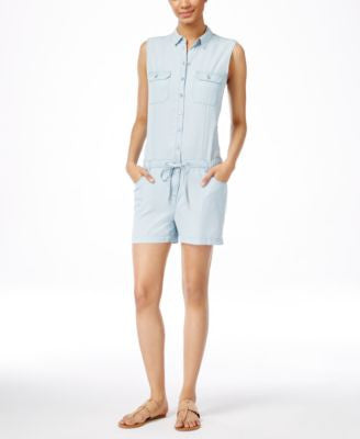 Kut from the Kloth Valentina Sleeveless Denim Romper