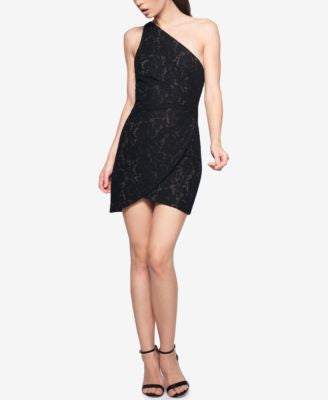 Fame and Partners One-Shoulder Lace Dress
