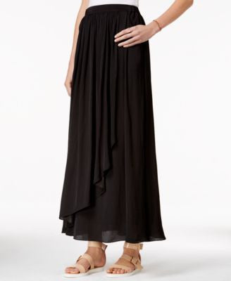 Armani Exchange Faux-Wrap Maxi Skirt