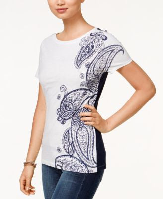 Tommy Hilfiger Amelie Paisley Graphic T-Shirt