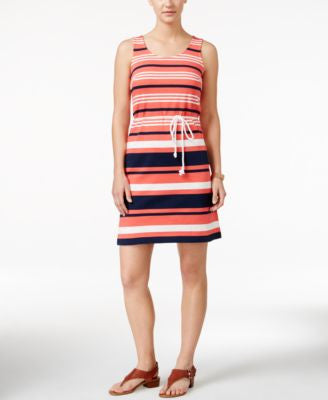 Tommy Hilfiger Dora Striped Jersey Tank Dress