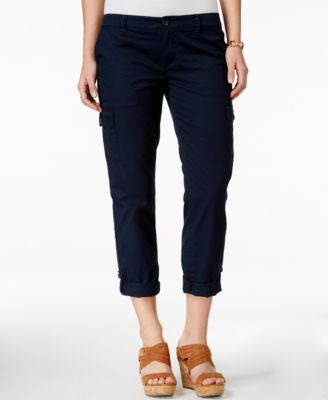 Tommy Hilfiger Cargo Roll-Tab Capri Pants, Only at Vogily
