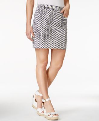 Tommy Hilfiger Printed Chino Mini Skirt