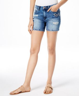 Nanette by Nanette Lepore Embroidered Denim Shorts, Only at Vogily