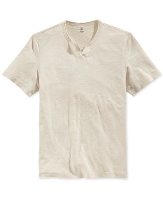 INC International Concepts Men's Mini-Split V-Neck T-Shirt, Only at Vogily