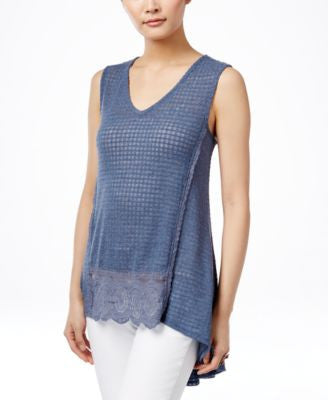 Style & Co. V-Neck Sleeveless Top, Only at Vogily