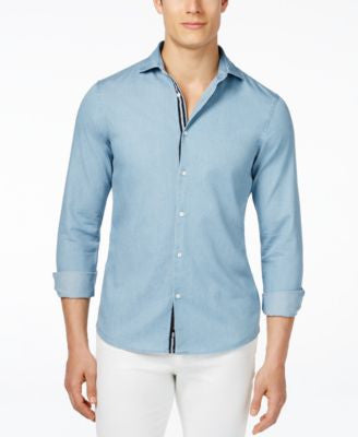 Michael Kors Men's Denim Long-Sleeve Shirt