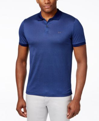 Michael Kors Men's Alvin Honeycomb-Print Polo