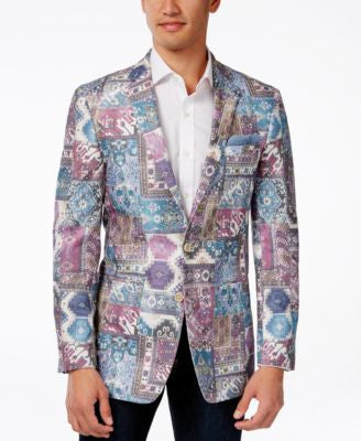 Tallia Men's Viggio Slim-Fit Abstract-Print Sport Coat