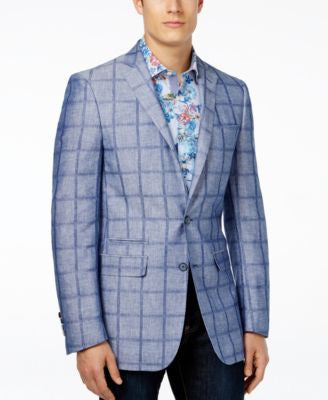 Tallia Big & Tall Men's Vince Slim-Fit Plaid Sport Coat