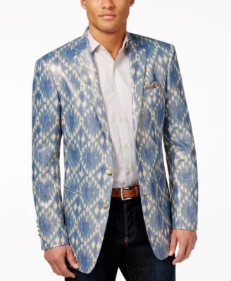 Tallia Men's Viggio Slim-Fit Geo-Print Sport Coat
